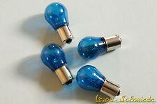 SET 4x Bulbs 12V / 21W - Ba15s - Blue - Bulb Bulbs 12 Volt 21 Watt PX