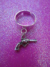 Adjustable Gun Charm Dangle Ring