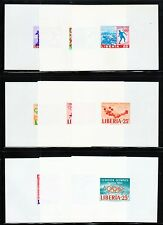 Liberia SC# 413//418-20//483-5//C157-8 MNH (9) Proof Shts.Imperf. Issued 1963-8/