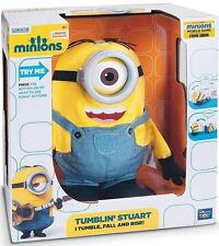 MINIONS DESPICABLE ME TUMBLIN' STUART ANIMATRONIC TALKING PLUSH DOLL NEW IN BOX