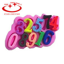 Silicone Number Chocolate Mold Cake Fondant Decorating Cookie Pastry Baking Tool