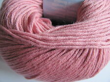 Debbie Bliss Eco Baby 100% Organic Cotton yarn. New 50g ball. Blush Pink