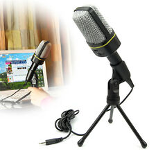 Singing Recording 3.5mm Condenser Microphone Mic For PC Laptop MSN Skype Youtube
