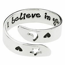 I Believe In You Adjustable Wrap Quote Ring 925 Sterling Silver Far Fetched