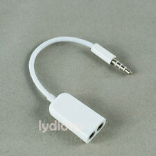 3.5mm Earphone Audio AUX Jack Headphone Cable Y Splitter for iPhone Samsung HTC