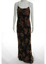 Laundry Multicolored Silk Floral Print Embellished Slim Maxi Dress Size 8
