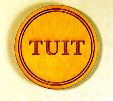 Round Tuit wooden token - Pack of 50 - laser-engraved