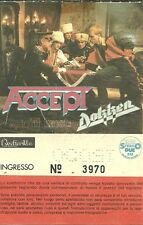 RARE / TICKET CONCERT - ACCEPT : LIVE IN ITALY ITALIE RUSSIAN ROULETTE TOUR