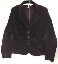 St. John's Bay Stretch Dark Purple Corduroy Jacket Size L 3 Button Blazer