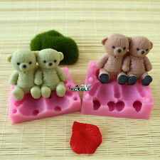 Nicole R1482 Teddy Bear Silicone 3D Animal Soap Molds Resin,Clay Crafts Moulds