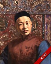 YOUNG MANCHURIAN MANCHU CHINA CHINESE MAN OIL PAINTING ART REAL CANVAS PRINT