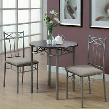 CAPPUCCINO FINISH 3 PIECE BISTRO SMALL DINING SET Kitchen Table Chairs Furniture