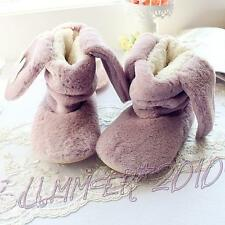 Lolita Girls Winter Warm Indoor Boots Lop Rabbit Home Shoes Cute Long Ears Bunny