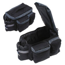 New Cycling Bicycle Bike Pannier Rear Seat Bag Rack Trunk Shoulder Handbag Black