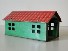 1920's - 1930's  Tin Toy Garage for Small Cars or Tractor Equiptment