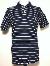 Mens Lacoste Sport Navy White Striped Polo Shirt Size L *Exclusive* 7-408