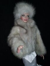 TONNER DOLL DIMITRA FUR COAT FUR HAT (OUTFIT ONLY) HAND MADE  MINK 16""