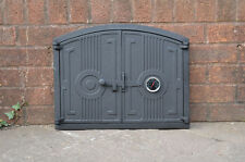 48 x 38 cm cast iron fire door clay bread oven doors pizza stove thermometer