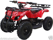 Outdoor Kids Red Electric Battery 24 V Mini Quad ATV Dirt Motor Bike Sonora V4