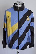 UMBRO FC INTER REPLI KIT L giacca zip jacket track top gabber felpa tuta E4224