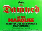 "The Damned Marquee 16"" x 12"" Photo Repro Concert Poster"