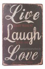 Live Love Laugh Funny Tin Sign Bar Pub Garage Home Art Wall Decor Poster Retro