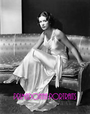 ELEANOR POWELL 8X10 Lab Photo '30s Shimmering Slinky Gown, High Fashion Portrait