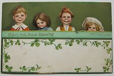 FROM THE AULD COUNTRY ELLEN H CLAPSADDLE POSTCARD C1910 ORIG St PATRICKS DAY