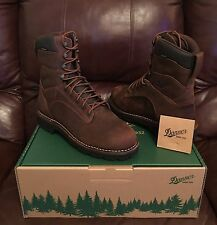 "10 2E Wide | Danner Men's Workman 8"" GORE-TEX GTX Work Boot Brown Leather NEW"