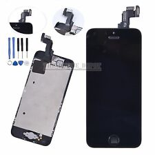 Black LCD Display Touch Screen Digitizer Camera Home Button For Apple iPhone 5C