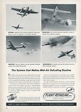 1953 Flight Refueling Inc. Ad Air Force Jets Mid-Air Fueling USAF Aviation Photo