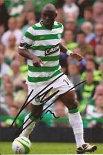 CELTIC * MARC ANTOINE FORTUNE SIGNED 6x4 ACTION PHOTO+COA