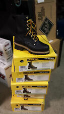 WOMENS CA1420 carolina logger work boots,STEEL TOE water proof 7.5 wide FREE S&H