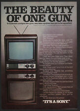 1975 SONY TRINITRON Color Television - The Beauty of One Gun - TV -  VINTAGE AD