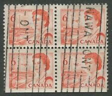 CANADA #459biv USED BLOCK OF 4 HB