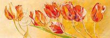 Elizabeth Espin: La Danse des Tulipes Fertig-Bild 35x100 Wandbild Tulpen Blumen