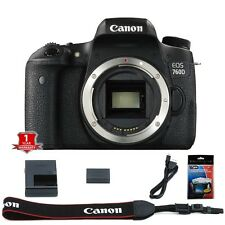 Canon Rebel T6S / 760D 24.2 MP DSLR Camera Body+Screen Protector-NEW