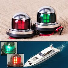 Marine boat Yacht LED Bow Navigation Lights One Pair Sailing Signal Light