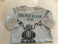 Baby Boy Top Shirt 12 Month Gray Bike Calvin Klein