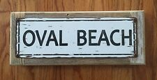 Oval Beach Saugatuck Douglas Michigan Vintage Metal Sign Lake House Cabin Decor