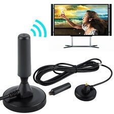 New Indoor Gain 30dBi Digital DVB-T/FM Freeview Aerial Antenna PC for TV HDTV HS