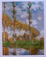 "CLAUDE MONET ""PIOPPI a GIVERNY"" Art Lithograph"