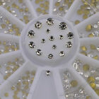 120pcs mixed nail glitter rhinestones wheel 3d nail art decoration tool new