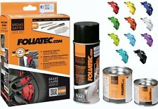 FOLIATEC BRAKE CALIPER PAINT KIT - GLOSSY - FLAME ORANGE