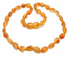 Genuine Raw Baltic Amber Baby Necklace Honey Beans 12.6 - 13.4 in