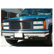 Fit:88-93 GMC C/K Pickup 92-93 Suburban/Yukon Black Upper Billet Grille Insert