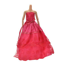 """1X Handmade Beautiful Widding Embroidery 2 Layers Rose Dress for 11"""" Barbies MW"""