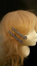 Karina French Couture 2 Borealis Rhinestone Bling Hair Clip Barrettes Stunning