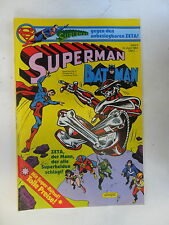 1 x Comic  Superman Batman  Nr.9    mit Sammel Ecke  (Apr 1984)    Z. 1-2