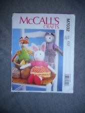 McCall's Bunny Cat Fox Doll Fabric Material Sewing Pattern OSZ # M7032